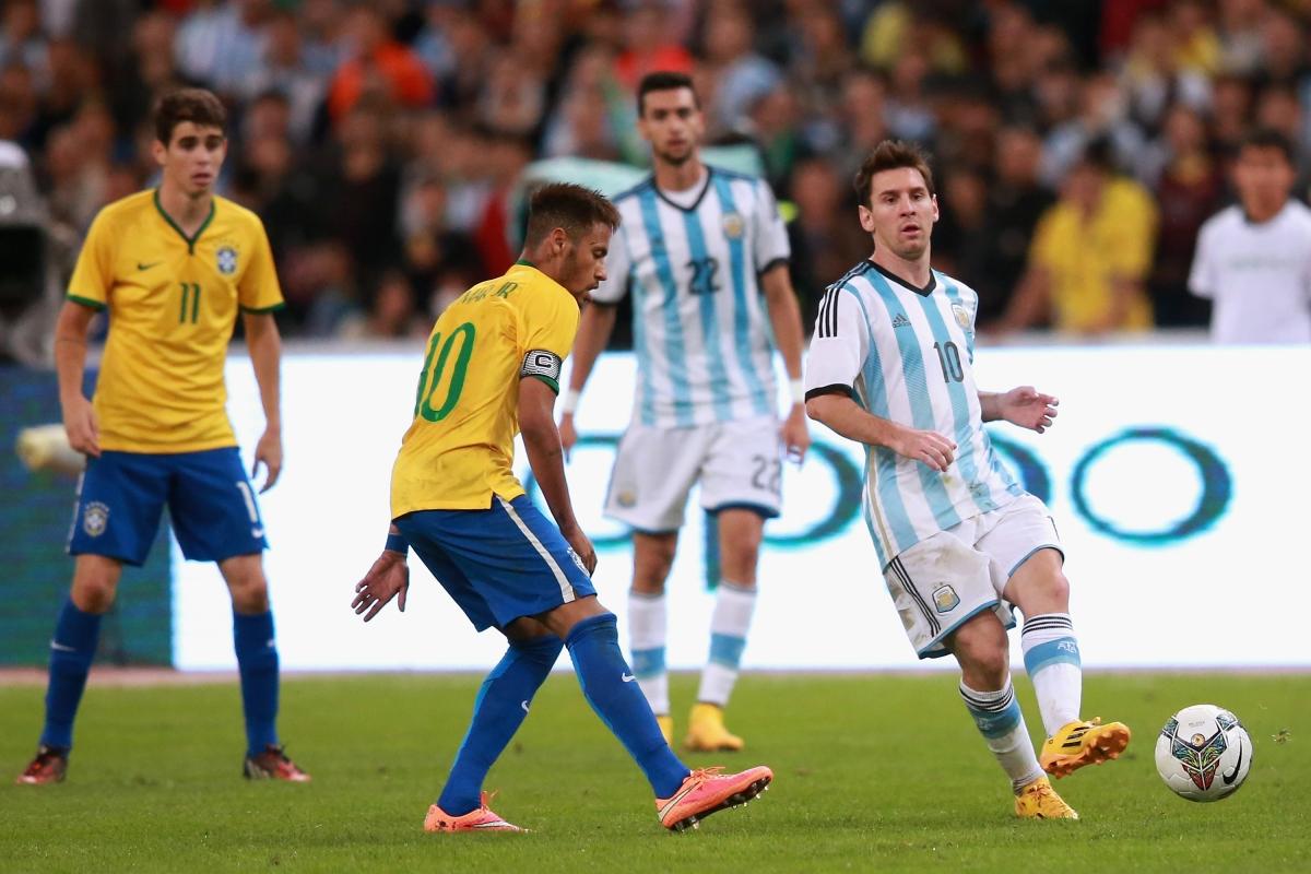 """Cuộc đối đầu """"kinh điển"""" giữa Brazil và Argentina sẽ diễn ra vào ngày 31/3. (Ảnh: Getty)."""