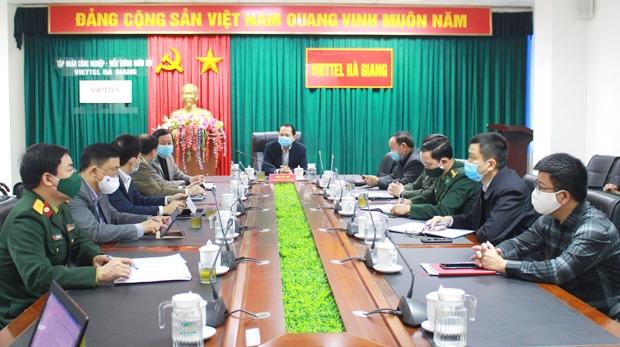Phó Chủ tịch UBND tỉnh Trần Đức Quý chủ trì cuộc họp tại điểm cầu tỉnh ta.