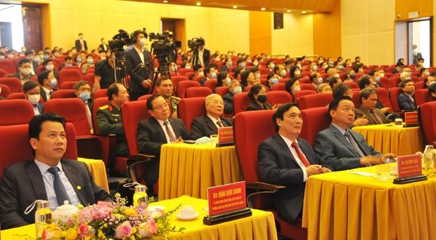 Bí thư Tỉnh ủy Đặng Quốc Khánh dự Lễ công bố Quyết định thành phố Tuyên Quang là đô thị loại II.